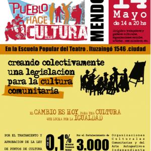 Primer foro abierto del Colectivo Pueblo Hace Cultura Mendoza