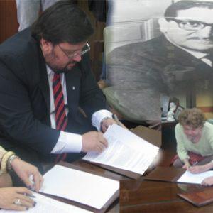 Convenio entre la Universidad Nacional de San Luis y el MEDH (31-10-2012)para continuar con el trabajo pericial y exploratorio en el Campo Las Lajas