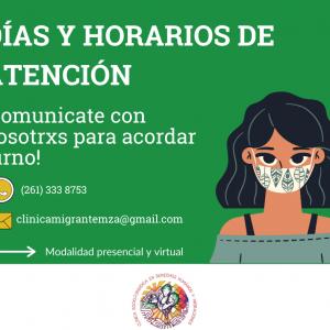 La Clínica Migrante Mendoza INFORMA: