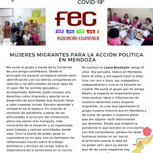 Mujeres Migrantes para la Acción Política Mendoza
