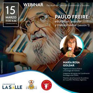 Webinar Paulo Freire: Educación Popular y Trabajo Social