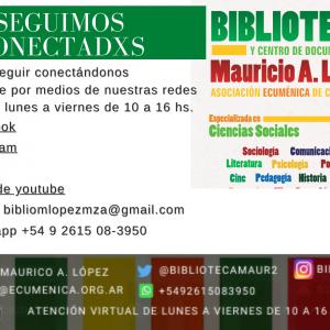 Actividades de nuestra Biblioteca, Archivo y Centro de Documentación Mauricio A. López