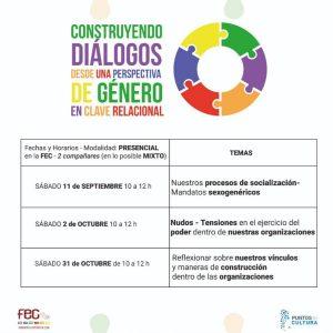 """""""Construyendo diálogos desde una perspectiva de género en clave relacional"""""""